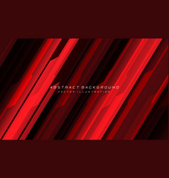Abstract red black cyber geometric line vector