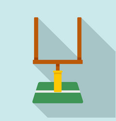 american football gate icon flat style vector image