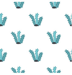 Aquatic plant pattern seamless vector