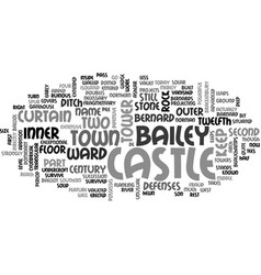 barnard castle text word cloud concept vector image