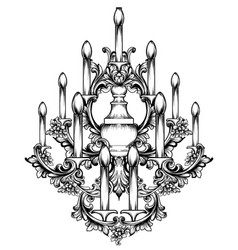 baroque classic chandelier luxury decor accessory vector image