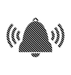 Bell sign on white vector