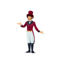 big top tent circus entertainer character vector image