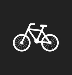 bike silhouette icon on black background bicycle vector image