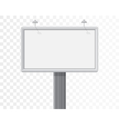 Billboard isolated on alpha white background vector