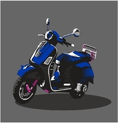 Blue Scooter vector