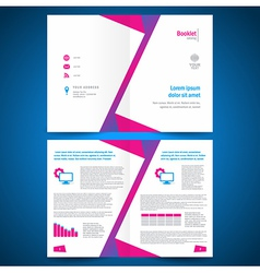 Booklet catalog brochure folder polygonal vector