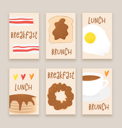 breakfast concept brunch vector image