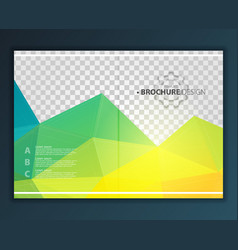 brochure flyer design template vector image
