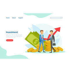 business investment landing page template vector image