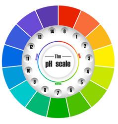 Circle ph colour scale vector