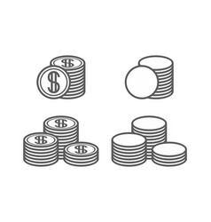 coins icons vector image