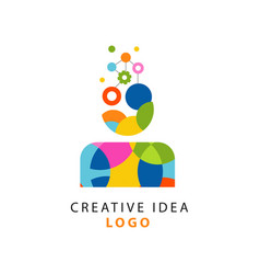 Colorful logo design with abstract geometric vector