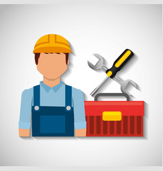 Construction professional avatar character vector