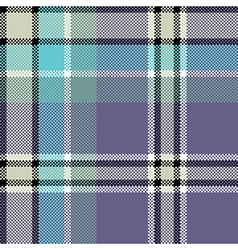 Cool check fabric texture square pixel seamless vector