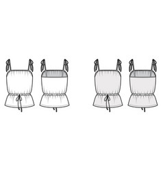 cotton-jersey camisole technical fashion vector image