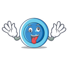 Crazy clothing button character cartoon vector