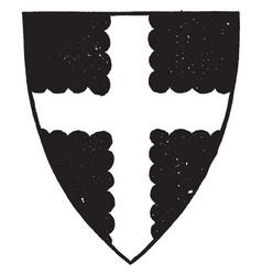 Cross engrailed have dark four parts vintage vector