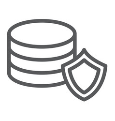 data protection line icon privacy and security vector image