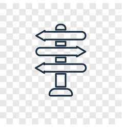 Directional linear icon isolated on transparent vector