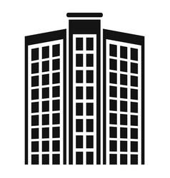 Dubai apartments building icon simple style vector