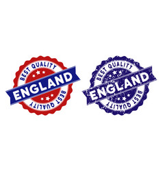 england best quality stamp with grungy surface vector image