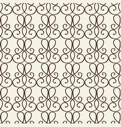 fragment decorative lattice in baroque style vector image