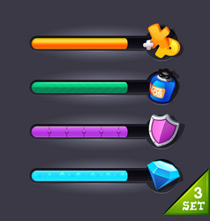 Game resource bar-set 3 vector