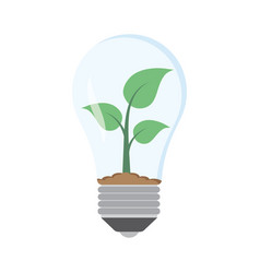 green plant in bulb vector image