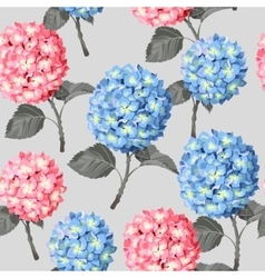 Hydrangea flower seamless vector image