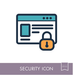 Internet protection icon information security vector