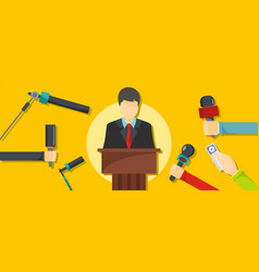 interview banner flat style vector image