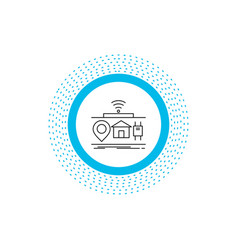 iot gadgets internet of things line icon isolated vector image