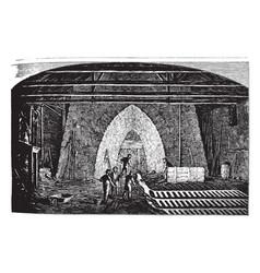 iron furnace vintage vector image