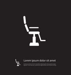 isolated armchair icon furniture element vector image