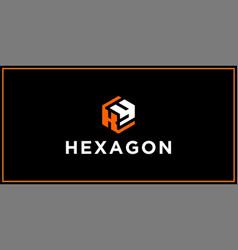 ky hexagon logo design inspiration vector image