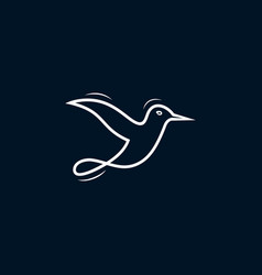 Logo bird icon line art picture vector