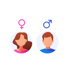 male and female icon set vector image