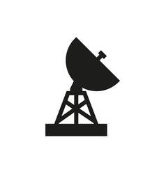 military radar icon on white background vector image
