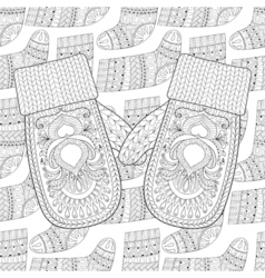 mittens on Sock vector image