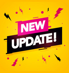 modern new update label vector image