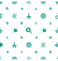 Molecular icons pattern seamless white background vector