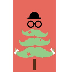 Moustaches christmas tree02 vector