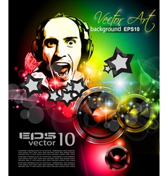Music Club Poster vector image