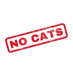 No Cats Rubber Stamp vector image