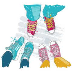 - pair of sneakers vector