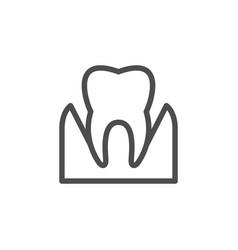 parodontosis line icon vector image