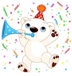 Polar bear party vector image vector image