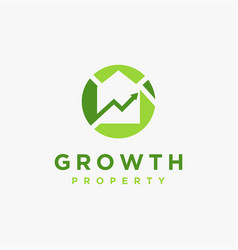 property investment logo icon template vector image