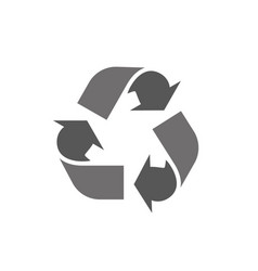 recycle icon logo in flat style on a white vector image